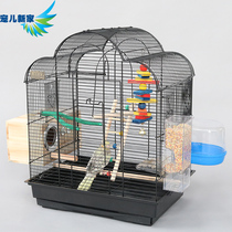 Metal Practical Dome large parrot cage Big octopus cage peony Tiger Leather Xuan Chicken birdcage Villa A04 6