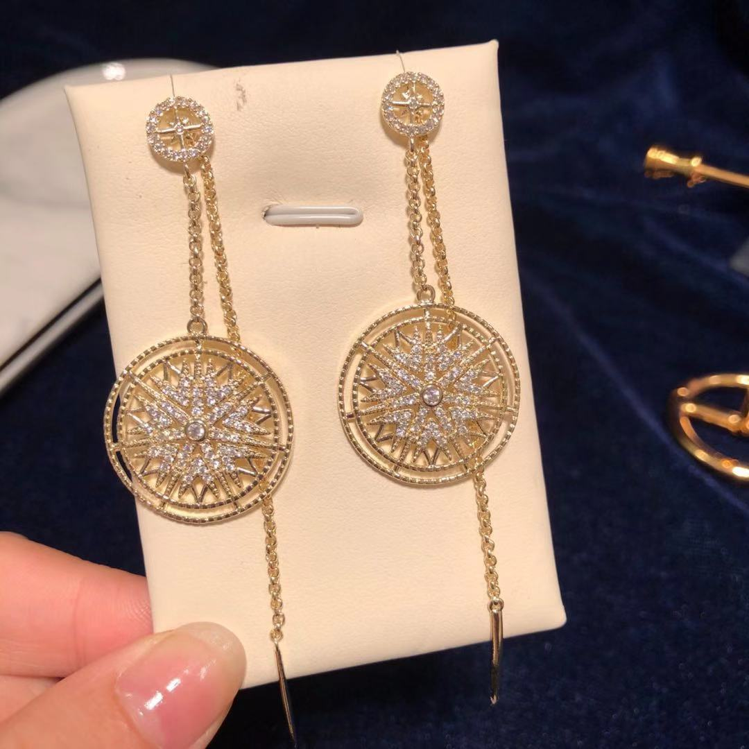 European and American personality new products long silver needle Earrings women baroque style earrings fashionable versatile simple earrings earrings