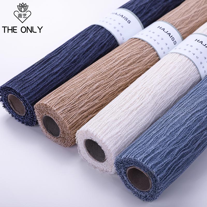 薇艺韩国进口LULU网韩式高档包花纸花束包装材料网鲜花包装纸网纱