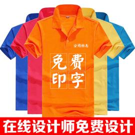 工作服定制短袖POLO衫团体文化广告衫定做速干T恤工衣装印字logo