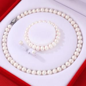 天然淡水珍珠项链女近圆正品锁骨链套装母亲节送妈妈婆婆生日礼物