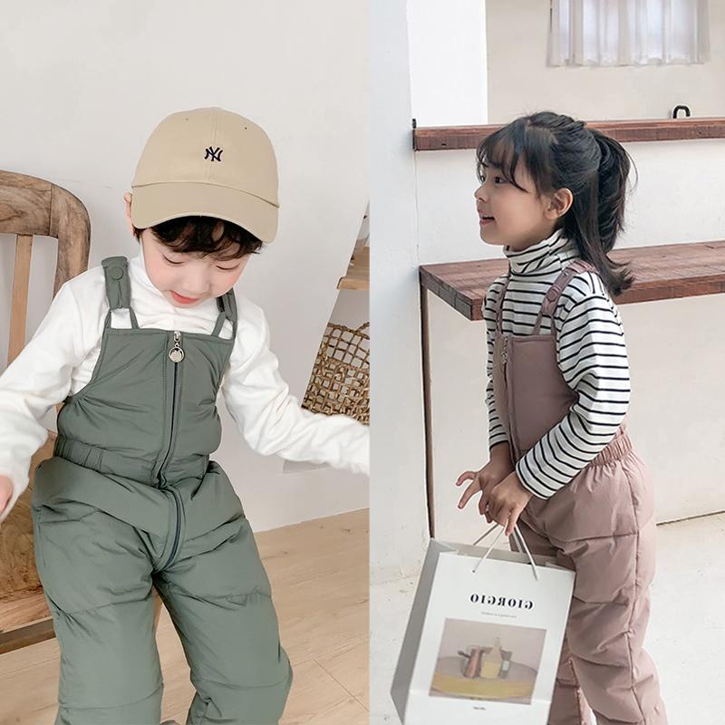 羽绒棉背带裤冬季男童婴儿冬装棉裤
