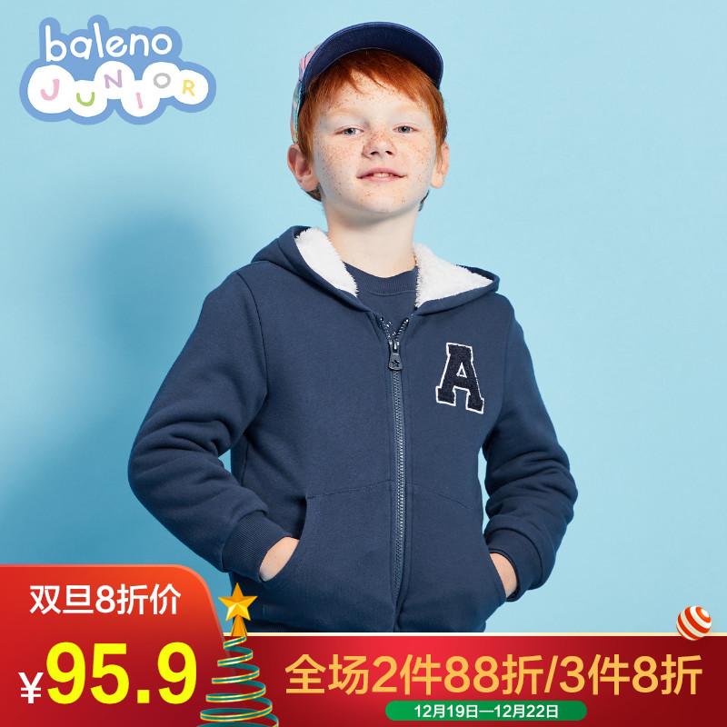 Baleno班尼路童装男童外套加厚冬 儿童洋气外套纯棉2018新款潮