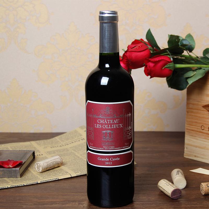 半甜商务宴请水果香宴会饮750ml红葡萄酒AOC法国原瓶进口奥立欧堡
