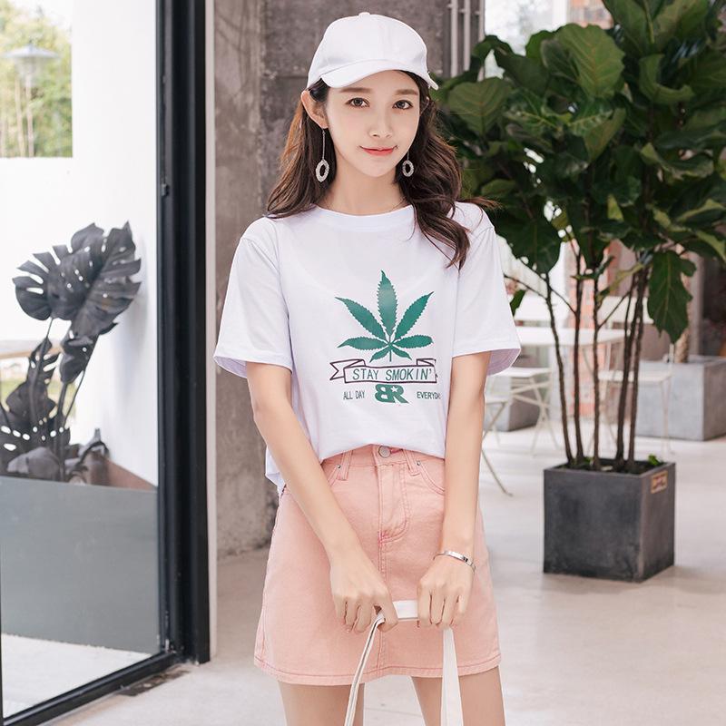 2018夏季新款韩版短袖T恤女宽松学生衣服女装上衣