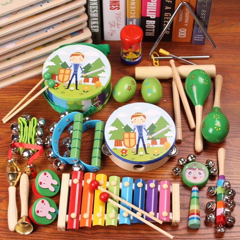 奥尔夫打击乐器组合手鼓鼓儿童玩具沙锤摇铃敲鼓幼儿早教音乐玩具
