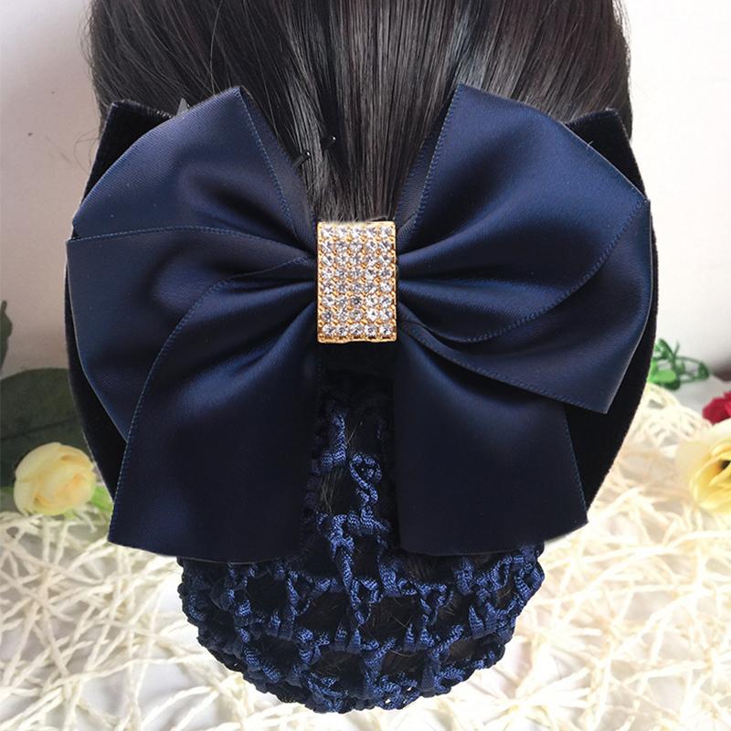 Nurses headdress high-end temperament exquisite net bag back of head simple professional female Korean fashion work hairpin accessories
