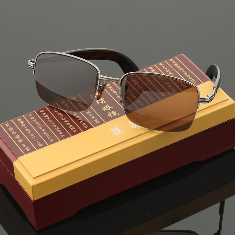 正品纯天然水晶眼镜男女中老年人清凉养眼石头镜太阳镜墨镜防辐射