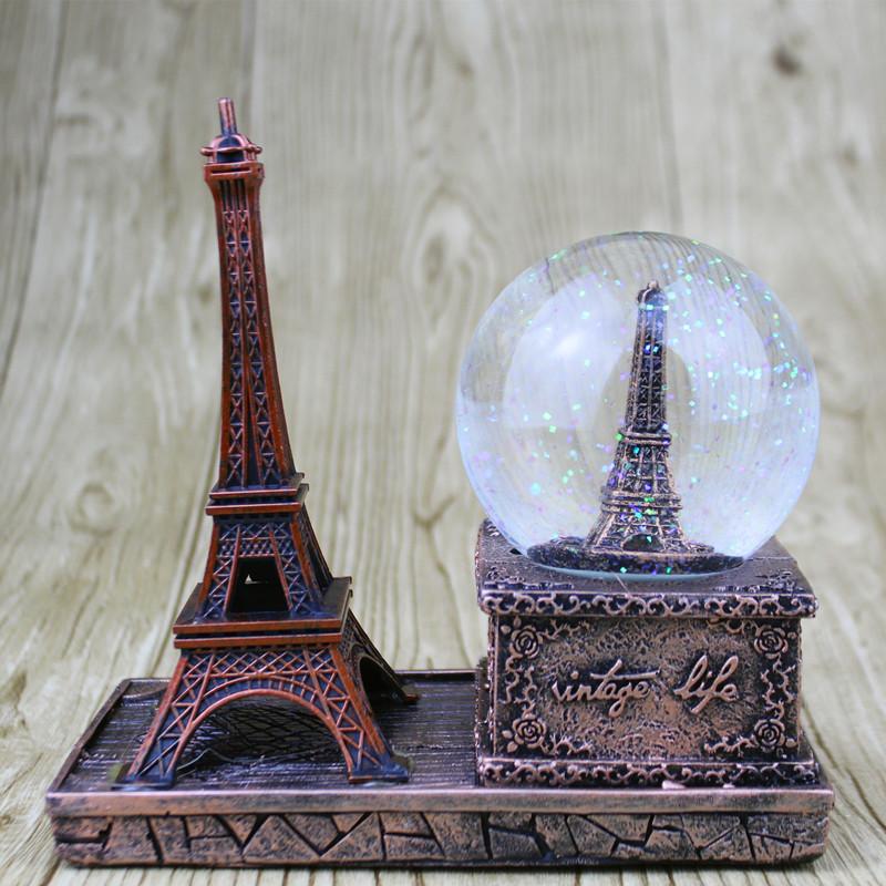 11月04日最新优惠复古艾菲尔巴黎铁塔水晶球毕业送男女生朋友同学闺蜜老师生日礼物