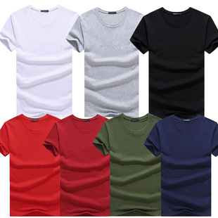 Short-sleeved men white t-shirt cotton shirt утболка