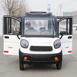 电动四轮车全封闭油电两用轿车接送孩子女性代步电瓶车新能源汽车图片