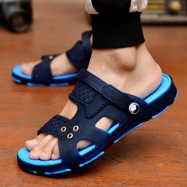 凉鞋男士拖鞋男鞋夏季新款一字拖凉拖鞋沙滩鞋防滑外穿两用洞洞鞋