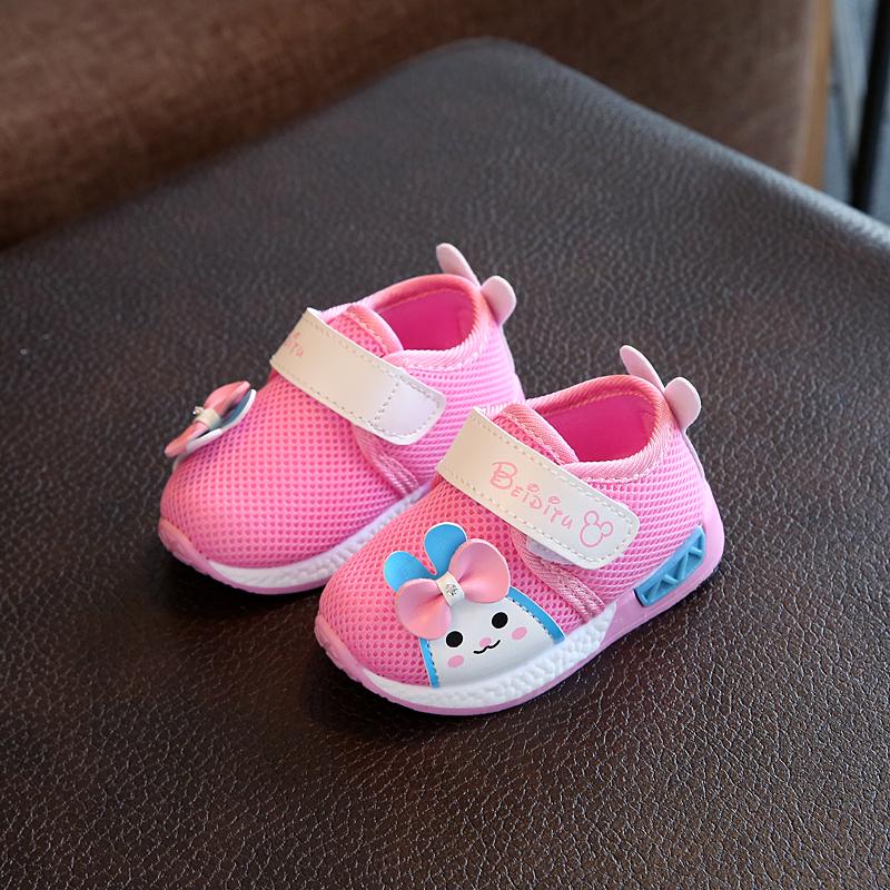 学步鞋幼儿软底女宝宝秋冬季0-1-3岁男童鞋单鞋网面鞋子2婴儿春款