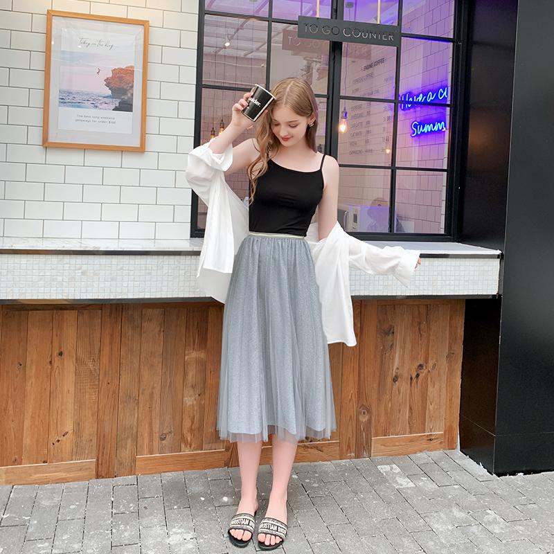 限1000张券夏大大2019流行女装新款大码夏装胖mm适合肚子胖的衣服雪纺半身裙