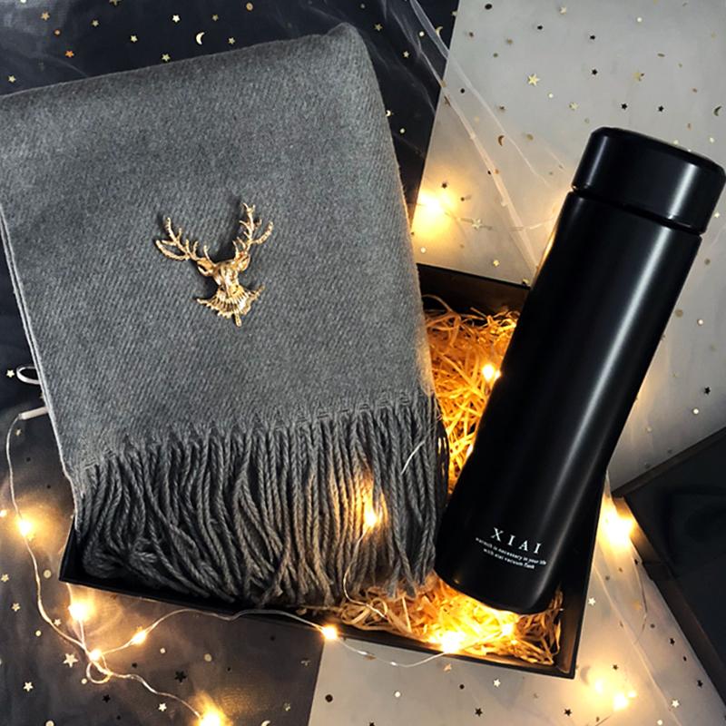 圣诞男生生日礼物送男朋友男士高档特别惊喜实用围巾创意ins超火