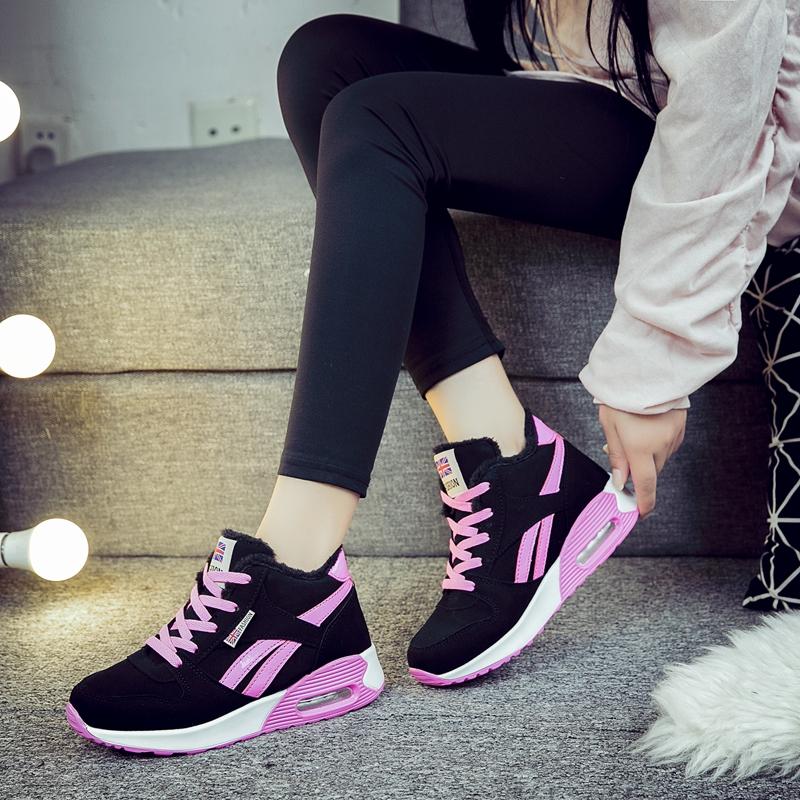 秋冬季31高帮鞋32保暖33棉鞋小码女鞋41-43运动鞋休闲鞋大码女鞋