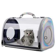 Panoramic transparent cat bag space capsule pet backpack cat out carrying bag one shoulder carrying chest bag cat cage