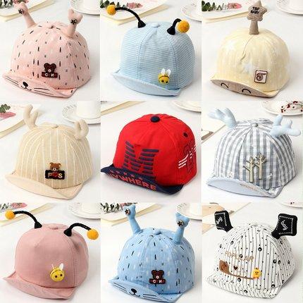 婴儿帽子春秋6-12个月3夏季棒球帽1-2岁男童女宝宝鸭舌帽潮遮阳帽
