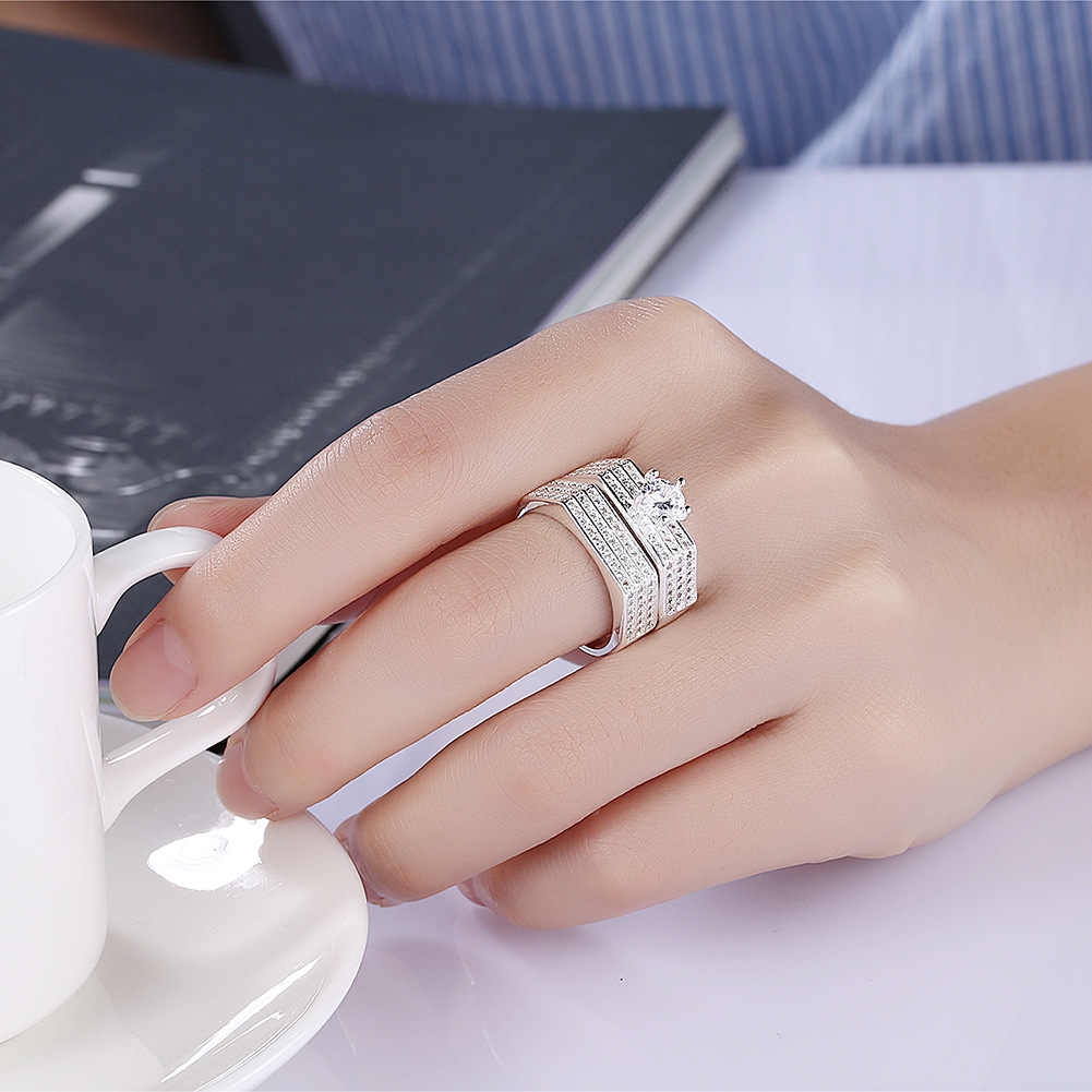Ring mens and womens Valentines Day gift fashion personality minority design couple creative ring womens Retro simple finger