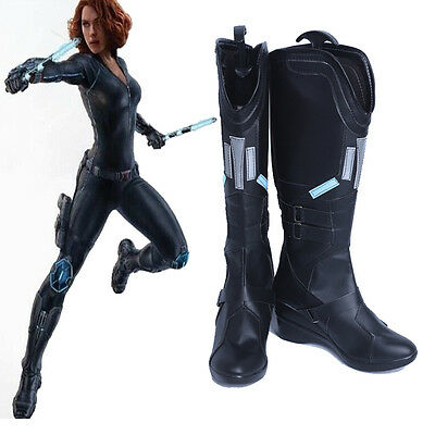 Buy high quality boots and shoes of black widow Natasha Romanov cosplay