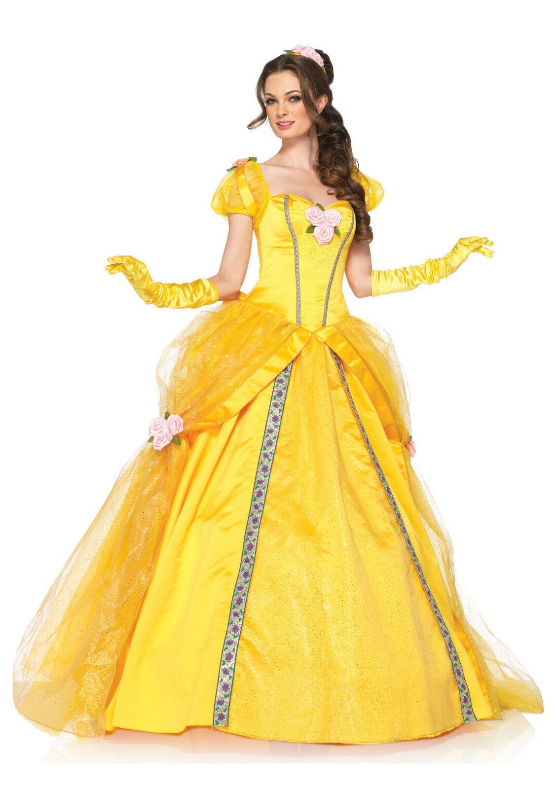 代购cosplay服装 美女与野兽 贝儿公主演出服 舞台连衣裙女士