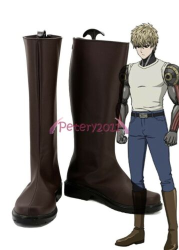 Purchase of one punch Superman cartoon devil remodel jenos cos Shoes Brown Boots custom cosplay