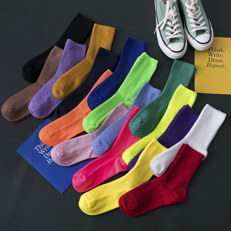 长袜子女中筒夏季薄款韩版学院风ins潮流网红堆堆袜纯棉百搭棉袜