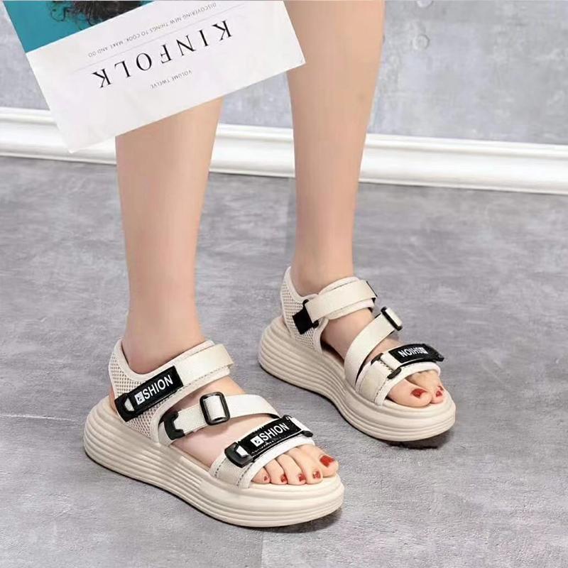 法艾瑞女鞋休闲系列2020夏季新款网红凉鞋时尚百搭厚底运动沙滩鞋