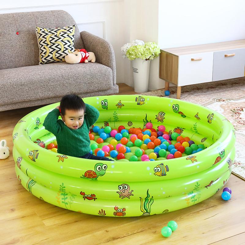 儿童充气海洋球池围栏塑料波波球类小孩宝宝滑梯室内玩具1-2-3岁券后39.00元