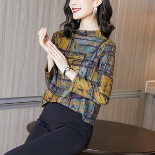 半高领打底衫女长袖秋冬洋气百搭欧货t恤薄款内搭小衫金丝绒上衣