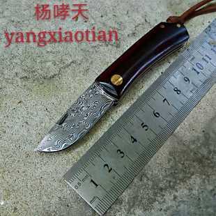 進口大馬士革vG10鋼刀手工摺疊鍛打無鎖摺疊刀水果削皮收藏禮品刀