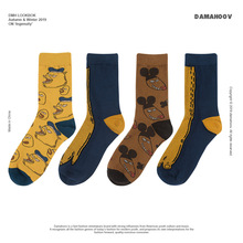 Spoof in autumn and winter: new trend in the year of chicken, claw and mouse; personality; men's and women's medium thick cotton socks