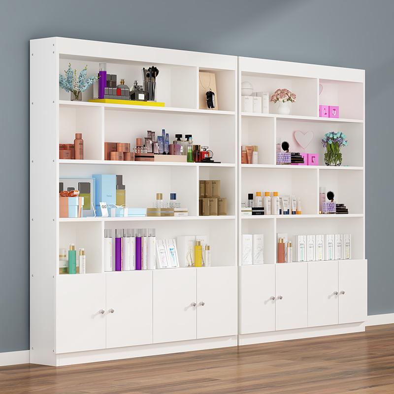 护肤品展示柜美甲柜子落地多功能彩妆小货架化妆品柜美容院产品柜