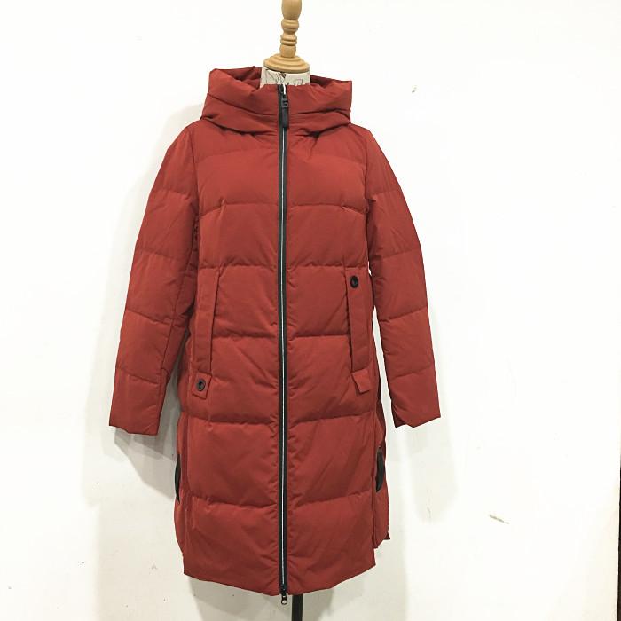 3QR白鸭绒羽绒服Y200 正品 新款冬季韩版修身气质中长羽绒外套女