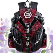 可放头盔机车骑行装备骑士全盔摩托车男越野双肩背包防水复古个性