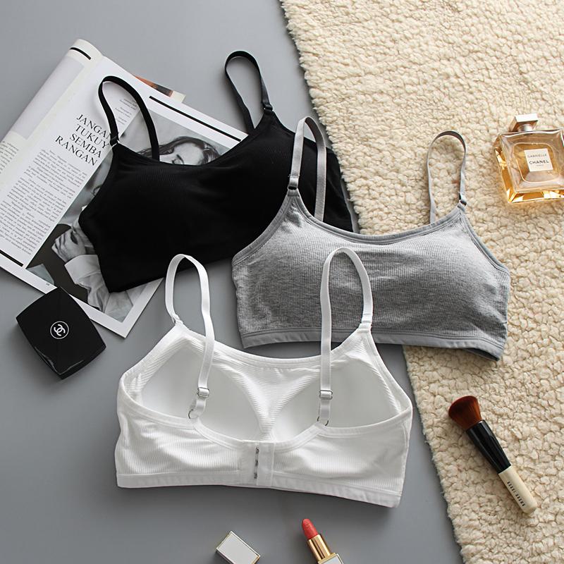 内衣学生高中女夏小胸运动少女初中文胸夏季薄款小背心胸罩显胸小