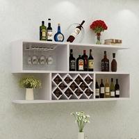 现代简约红酒架墙上酒柜壁挂式创意客厅酒格墙壁装饰悬挂式置物架