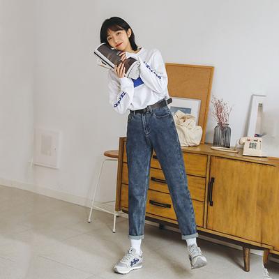 6629实拍2020年春季新款韩版宽松弹力直筒哈伦裤女抖音网红同款女