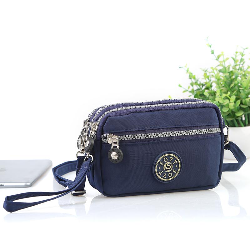 斜挎手机包钥匙零钱包男女买菜手包尼龙小布包单肩手拎证件护照包