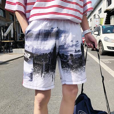 夏季港风新款休闲短裤男宽五分裤 电商A020-DK006A-P35 控价55