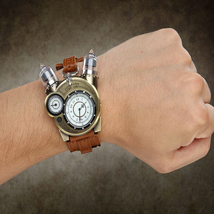 Buy science maniac Tesla ThinkGeek Tesla creative watch for men and women Steampunk metal