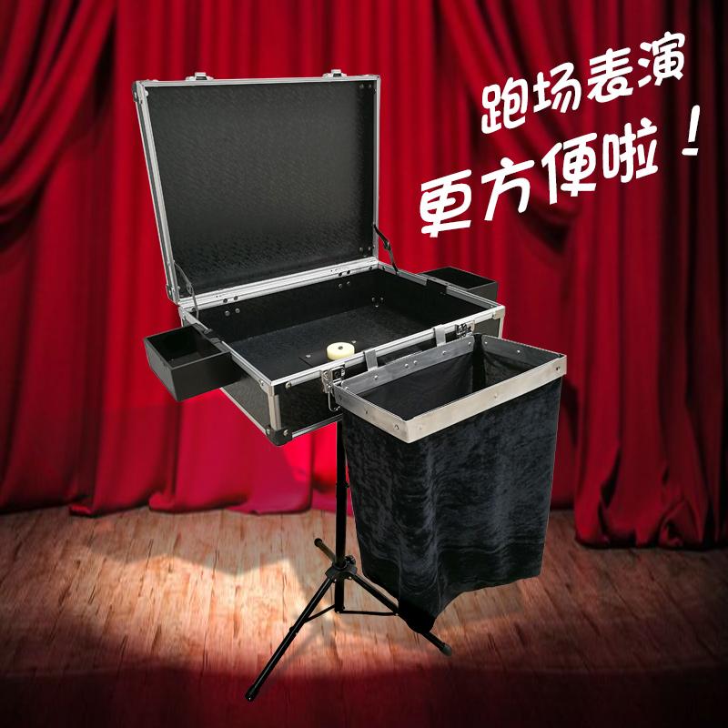 大卫魔术箱子可拆卸跑场折叠魔术道具彩桌魔术桌箱子三角支架包邮