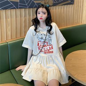 YF32761# 夏装新款短裙连衣裙娃娃裙显瘦小个子清新裙子女装批发服装直播货源