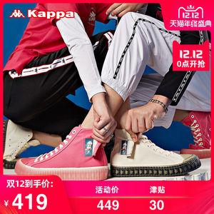 Kappa卡帕串标哆啦A梦联名情侣男女运动板鞋高帮帆布鞋2019新款