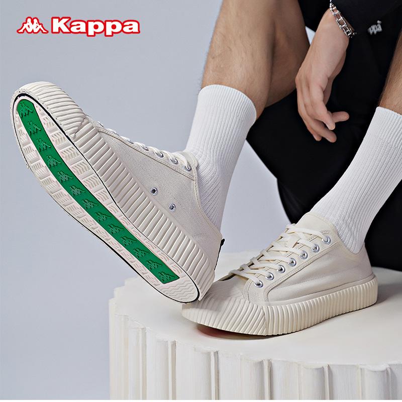 Kappa卡帕 情侣男女串标休闲帆布板鞋鞋小白鞋2019新款 K09Y5VS01