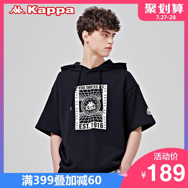 KAPPA卡帕男款运动短袖夏季T恤休闲帽衫半袖 2019新款 K0912WD10D