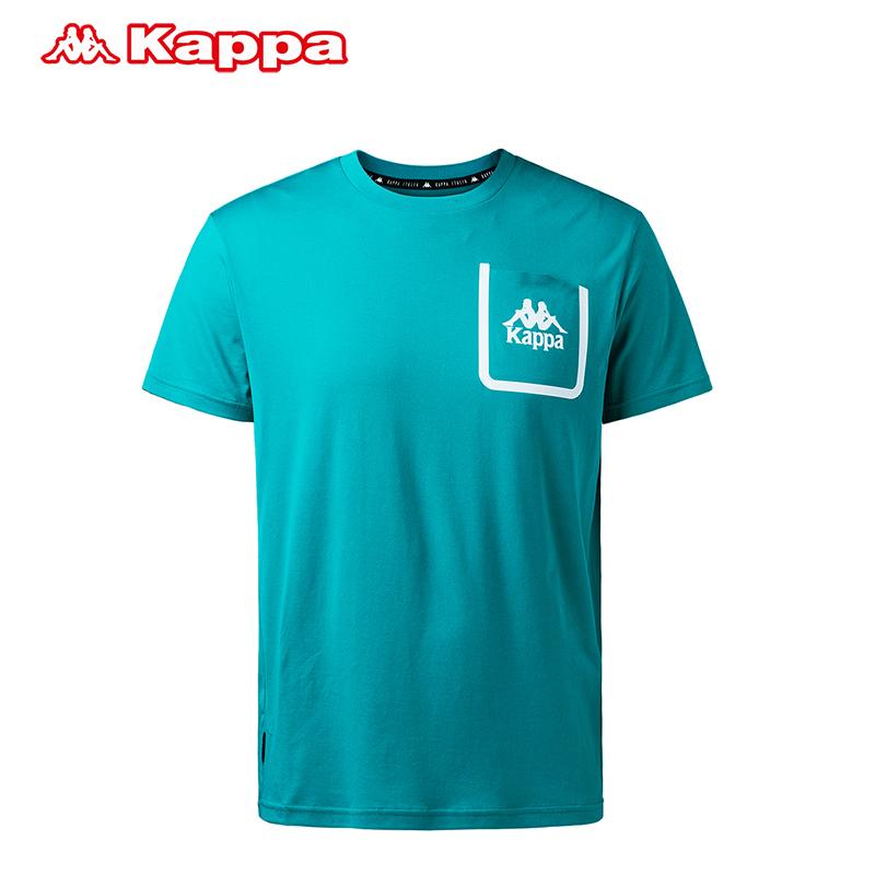 KAPPA卡帕 男款运动短袖休闲棉质T恤夏季基础半袖男|K0712TD37