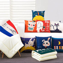 Pillow Quilt Dual Use Office nap Pillow Multifunctional pillow by folding blanket car Cushion Pillow Air conditioner was