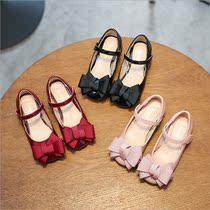女童黑皮鞋2019春秋韩版百搭儿童公主鞋小女孩的春款鞋子高跟单鞋