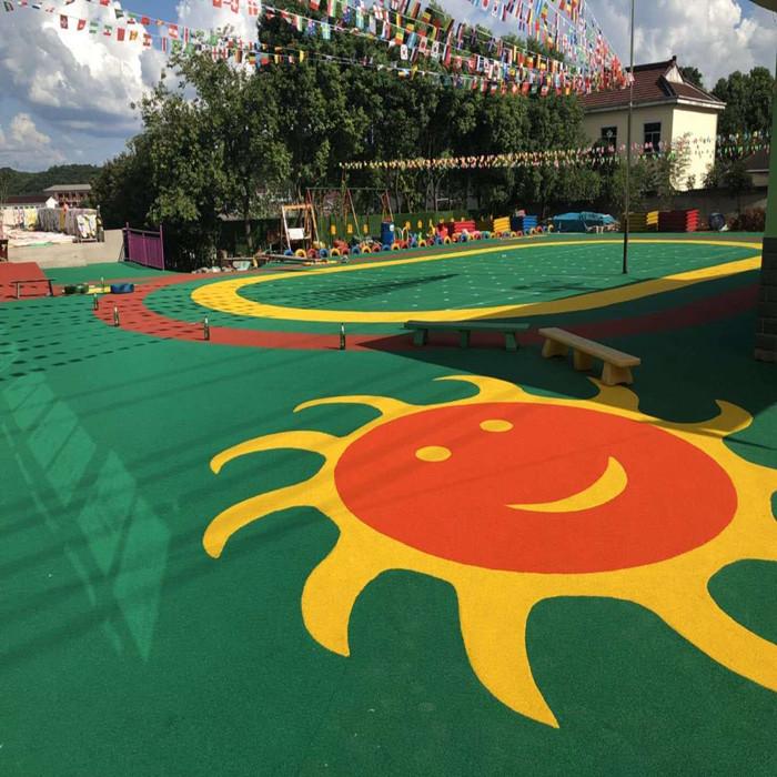 Kindergarten plastic floor / plastic track / plastic / silicon Pu basketball court / football field / construction